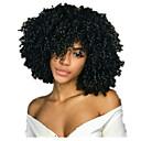 povoljno Perike s ljudskom kosom-Ljudska kosa Lace Front Perika Srednji dio stil Brazilska kosa Kovrčav Crna Perika 130% Gustoća kose Žene Žene Kratko Others Clytie
