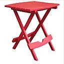 זול שולחנות מתקפלים-שולחן צד מתקפל עבור מדשאה בחוץ פטיו שרף עמיד אדום דובדבן