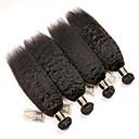 זול תוספות משיער אנושי-4 חבילות שיער ברזיאלי Kinky Straight 100% רמי שיער לארוג חבילות טווה שיער אדם שיער Bundle תוספות שיער משיער אנושי 8-28 אִינְטשׁ צבע טבעי שוזרת שיער אנושי ללא ריח הלבשה קלה מכירה חמה תוספות שיער אדם