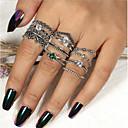 זול עגילים-בגדי ריקוד נשים טבעת הטבעת טבעת הגדר טבעת רבת אצבעות 12pcs כסף אבן נוצצת לשם סגסוגת עגול וינטאג' בוהמי בוהו יומי רחוב תכשיטים סגנון וינטג' מגניב חמוד