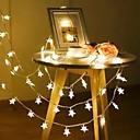 זול Others-2m 40 לדים בצורת כוכב נושא מחרוזת פיות האורות חם לבן חג המולד חג החתונה קישוט צד 3 תאורה 1pc