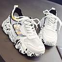 זול סניקרס לנשים-בגדי ריקוד נשים רשת קיץ יום יומי נעלי אתלטיקה ריצה עקב טריז בוהן עגולה לבן / כסף / צהוב