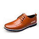 זול נעלי בד ומוקסינים לגברים-בגדי ריקוד גברים נעלי עור עור אביב קיץ בריטי נעלי אוקספורד ללבוש הוכחה שחור / כחול / חום / נעלי נוחות