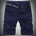 זול מכנסים וחולצות להייקינג-בגדי ריקוד גברים מכנסיים קצרים לטיולי הליכה חיצוני עמיד למים נושם ייבוש מהיר קיץ מכנסיים קצרים טיפוס מחנאות / צעידות / טיולי מערות לטייל ירוק צבא חאקי נייבי כהה XXL XXXL 4XL