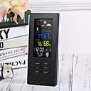 halpa Kodinkoneet-kaukosäädin ts-74 langaton digitaalinen lämpömittari sisäilman lämpötilan taustavalon näyttö kello sääasema eu plug / us plugblack