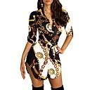 povoljno Ženske haljine-Žene Ulični šik Elegantno Majica Haljina - Print, Geometrijski oblici Color block Asimetričan