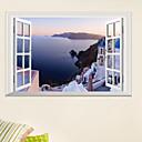 זול דלת חומרה & מנעולים-נופי ים תיכוני 3D מדבקות קיר - מילים&אמפר ציטוטים קיר מדבקות תווים חדר לימוד / משרד / חדר אוכל / מטבח
