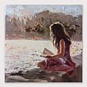 povoljno Slike za cvjetnim/biljnim motivima-Hang oslikana uljanim bojama Ručno oslikana - Sažetak Moderna Uključi Unutarnji okvir