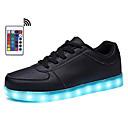 hesapli Erkek Sneakerları-Erkek Ayakkabı Kauçuk / PU İlkbahar yaz / Sonbahar Kış Günlük / Çıtı Pıtı Spor Ayakkabısı Yürüyüş Bootiler / Bilek Botları Günlük / Parti ve Gece için Beyaz / Siyah / Gümüş