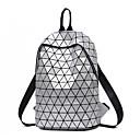 halpa Koululaukut-Unisex Vetoketjuilla Backpack Säädettävä Tekonahka Geometrinen Musta / Hopea / Syystalvi