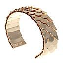 זול סט תכשיטים-בגדי ריקוד נשים צמידי חפתים קלאסי דגים אופנתי סגסוגת צמיד תכשיטים שחור / כסף / זהב ורד עבור מתנה יומי