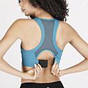 זול ביגוד כושר, ריצה ויוגה-בגדי ריקוד נשים חזיית ספורט למעלה חזיות ספורט יוגה ריצה מידות גדולות לשדיים גדולים נושם תומך זיעה שחור כחול ורוד אחיד / מיקרו-אלסטי