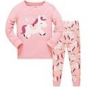 povoljno Donje rublje i čarape za djevojčice-Djeca Djevojčice Na točkice Poliester Sleepwear Blushing Pink