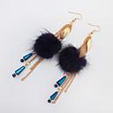 זול שרשראות-בגדי ריקוד נשים זהב עגילי טיפה טבעות חישוקים ארופאי מודרני עגילים תכשיטים שחור / כחול כהה / אדום עבור רחוב פֶסטִיבָל זוג 1
