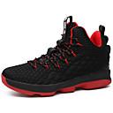 זול נעלי ספורט לגברים-בגדי ריקוד גברים נעלי נוחות דמוי עור אביב קיץ ספורטיבי / פרפי נעלי אתלטיקה כדורסל נושם שחור / אדום / שחור אדום