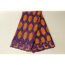 halpa Käsityöt ja ompelu-Afrikkalainen pitsi Kukkakuviot Pattern 130 cm leveys kangas varten Erikoistilanteet myyty mukaan 5Yard