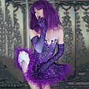 זול אקזוטי Dancewear-אקזוטי Dancewear חליפת גוף עם אבני חן מזויפות / האנפו בגדי ריקוד נשים הצגה ספנדקס נוצות \ פרווה / תכשיט אקריליק ללא שרוולים שמלה