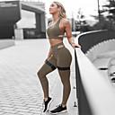 זול עגילים-בגדי ריקוד נשים אימונית חליפת יוגה צבע אחיד יוגה ריצה כושר וספורט מכנסיים צמרות מידות גדולות ללא שרוולים לבוש אקטיבי קל משקל נושם תומך זיעה באט הרם מיקרו-אלסטי רזה