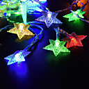 זול חוט נורות לד-לנד 5 מ '50 מורות מחרוזת אורות חם לבן / rgb / לבן השמש מופעל חג המולד חג החתונה קישוט צד התאורה