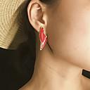 זול עגילים אופנתיים-בגדי ריקוד נשים עגיל עגילים תכשיטים צהוב / אדום / ירוק עבור Party יומי רחוב חגים פֶסטִיבָל זוג 1