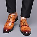 baratos Oxfords Masculinos-Homens Sapatos formais Couro Ecológico Primavera Verão / Outono & inverno Negócio / Formais Oxfords Preto / Amarelo / Vermelho / Festas & Noite / Festas & Noite