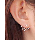 cheap Earrings-Women's AAA Cubic Zirconia Earrings Jacket Earrings Magic Back Earring Marquise Cut Floral Theme Luxury Fashion Elegant Imitation Diamond Earrings Jewelry White and Sliver / Golden / Rose Gold For