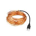 זול חוט נורות לד-LOENDE 5m חוטי תאורה 50 נוריות לבן חם / RGB / לבן Party / דקורטיבי / חתונה מופעל באמצעות USB