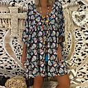 رخيصةأون مفروشات التخييم-فستان نسائي كلاسيكي عصري بوهو طول الركبة هندسي