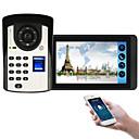 olcso Videó kaputelefonok-618fd11 7 hüvelykes kapacitív érintőképernyős videokamera vezetékes videó ajtócsengő wifi / 3g / 4g távoli hívás / ujjlenyomat / jelszó / távirányító feloldása egy-egy videó