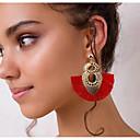זול עגילים אופנתיים-בגדי ריקוד נשים עגילי טיפה עגילים תכשיטים צהוב / אדום / כחול עבור יומי 1pc