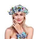זול אביזרים לחיות קטנות-פלנל / סגסוגת רצועות עם פרחוני 1 עניץ חתונה / אירוע מיוחד כיסוי ראש