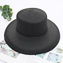 זול נעלי אוקספורד לנשים-כל העונות ורוד מסמיק בז' חאקי כובע קש אחיד קש מסיבה בסיסי בגדי ריקוד נשים