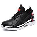 זול נעלי ספורט לגברים-בגדי ריקוד גברים אור סוליות PU אביב קיץ ספורטיבי נעלי אתלטיקה נושם לבן / שחור / אדום