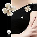 זול סטים של תכשיטים-בגדי ריקוד נשים תפס לשיער רטרו פרח מסוגנן קלסי סִכָּה תכשיטים סגול זהב לבן LED כחול עבור Party פֶסטִיבָל
