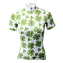 cheap Cycling Jerseys-21Grams Women's Short Sleeve Cycling Jersey Green Ireland Bike Jersey Top Quick Dry Sweat-wicking Sports Terylene Mountain Bike MTB Road Bike Cycling Clothing Apparel / Micro-elastic / Race Fit