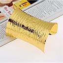 baratos Bangle-Mulheres Pulseiras Algema Pulseira larga Retro Feliz Estiloso Liga Pulseira de jóias Dourado / Prata Para Presente Diário