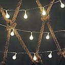halpa LED-hehkulamput-5m Koristevalot 50 LEDit Lämmin valkoinen Koristeltu 5 V 1set