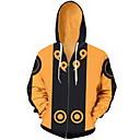 hesapli Günlük Cosplay Aksesuarları-Naruto Cosplay Palto Terylene Desen Uyumluluk Erkek / Kadın's
