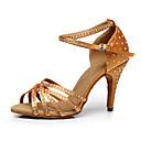 povoljno Cipele za latino plesove-Žene Plesne cipele Eko koža Cipele za latino plesove Štikle Tanka visoka peta Moguće personalizirati Crn / Braon / Crvena / Seksi blagdanski kostimi / Koža / Vježbanje