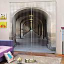 זול דלת חומרה & מנעולים-עיצוב פשוט סיטוני 100% בד פוליאסטר בד עבה עמיד למים mouldproof בידוד חום וילונות האפלה עבור משרד / סלון