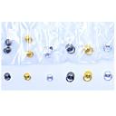 Недорогие IP-камеры для помещений-100 шт. / Упак. 3d металлическая луна ногтей jwelry сделай сам горный хрусталь металлическое кольцо кристалл круг ногтей украшения