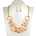 זול סנדלי נשים-בגדי ריקוד נשים שרשרת קלאסי שִׂמְחָה מסוגנן עגילים תכשיטים זהב / כסף עבור Party יומי 2