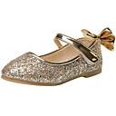זול Kids' Flats-בנות נעליים לילדת הפרחים PU שטוחות ילדים קטנים (4-7) זהב / כסף אביב / קיץ / גומי תרמופלסטי TPR