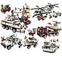povoljno Building Blocks-Kocke za slaganje 1 pcs kompatibilan Legoing Ručno izrađeni Interakcija roditelja i djece Policijski auto Helikopter Sve Igračke za kućne ljubimce Poklon