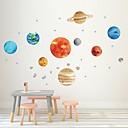 billige Flaskegaver-ni planetariske vegger med selvklebende dekorative graffiti klistremerker til planetariske vegger av kreative barnehager dekorative vegg klistremerker - vegg vegg klistremerker dyr barn rom /