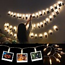 halpa LED-hehkulamput-6m: n valokuvaleikkeen haltija johti merkkivaloja akkukäyttöisillä joulun uudenvuoden puolueiden häät ramadan-koristeiden sävyvaloilla