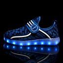 hesapli Çocuk Ayakkabıları-Genç Erkek / Genç Kız Flyknit Spor Ayakkabısı Büyük Çocuklar (7 yaş +) Işıklı Ayakkabılar LED Siyah / Yeşil / Kırmzı Bahar / Yaz