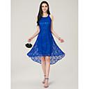 رخيصةأون قطع رأس-A-الخط جوهرة متوازي دانتيل فستان مع إضافات الدانتيل بواسطة LAN TING Express