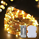זול חלקים לאופנועים וג'יפונים-10מ' חוטי תאורה 100 נוריות לבן חם דקורטיבי 5 V 1set