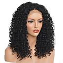 povoljno Sintetičke perike s čipkom-Sintetičke perike Afro Kinky Stil Stepenasta frizura Capless Perika Crna Sintentička kosa 40~44 inch Žene Novi Dolazak Crna Perika Srednja dužina